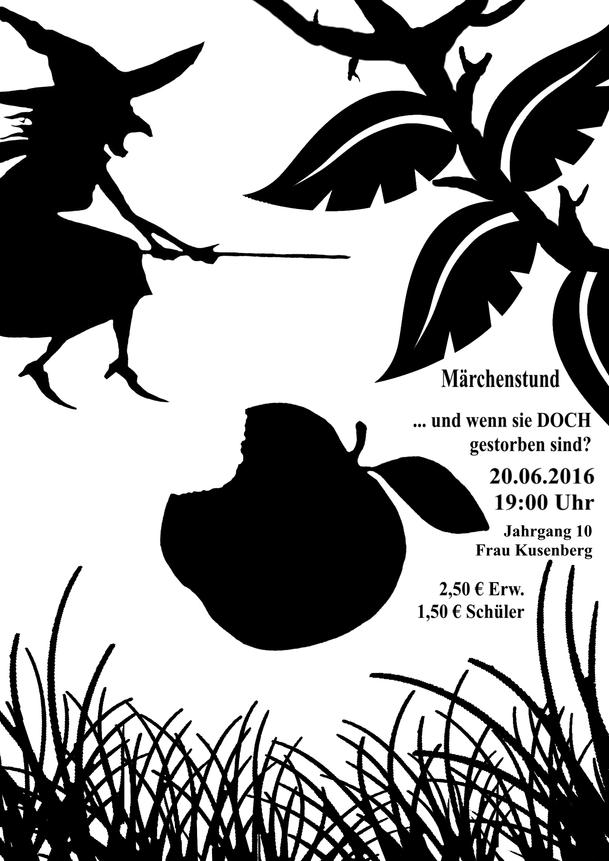 """Theaterkurs des 10. Jahrgangs zeigt """"Märchenstund"""" (am 20. Juni 2016, um 19:00, Aula)"""